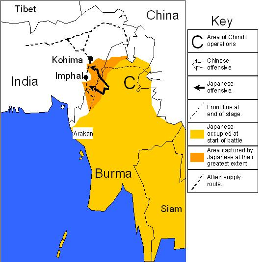 THE BURMA CAMPAIGN DURING WORLD WAR II - Burma in world map