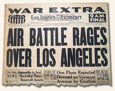 THE BATTLE OF LOS ANGELES: 1942 UFO